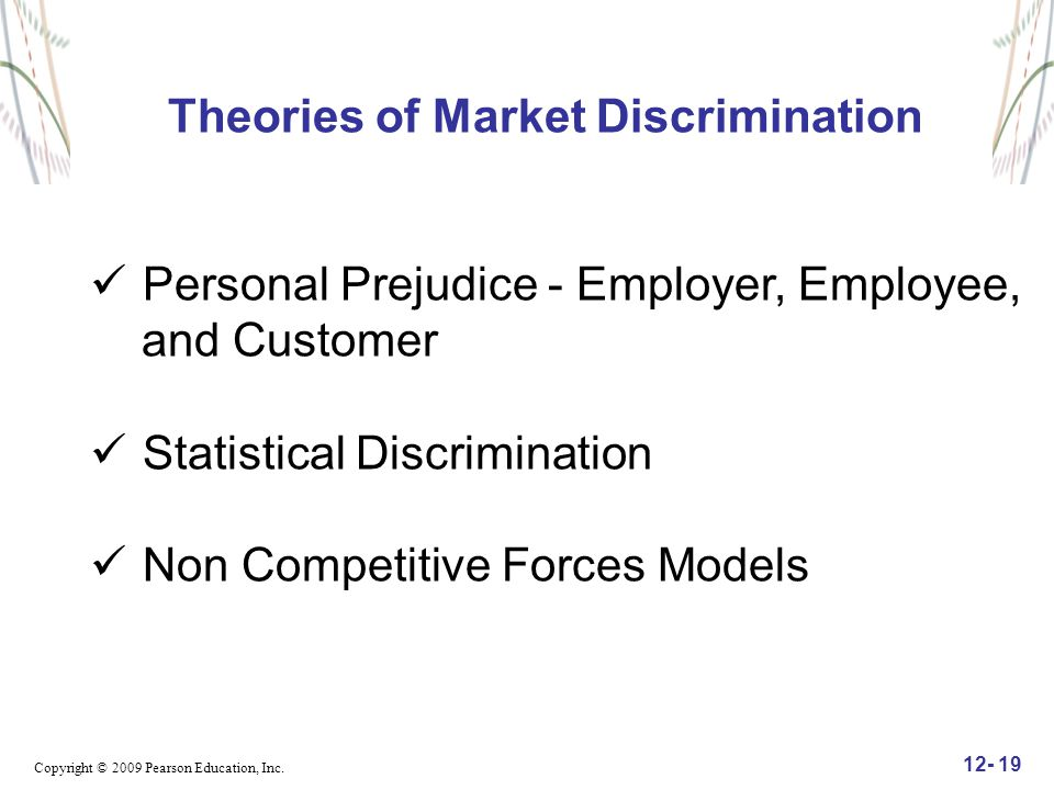 Theories of Market Discrimination
