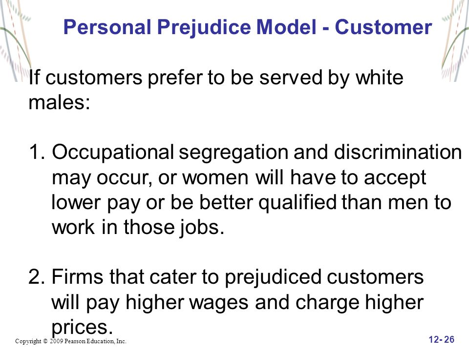 Personal Prejudice Model - Customer