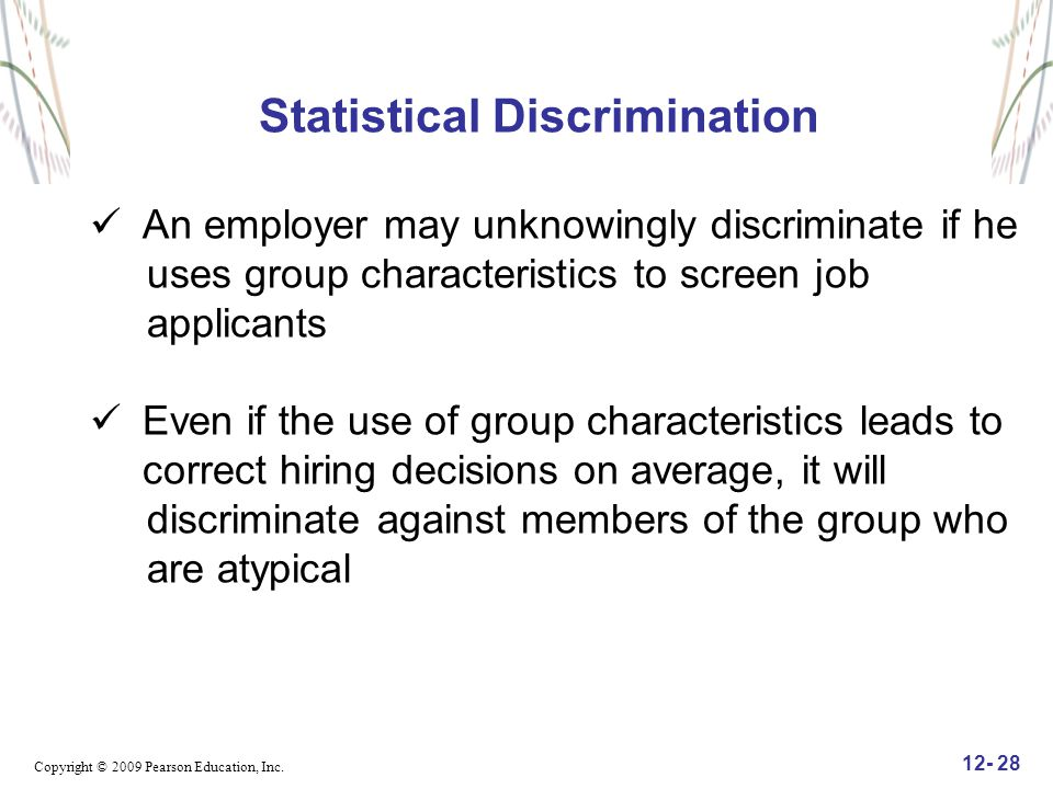 Statistical Discrimination