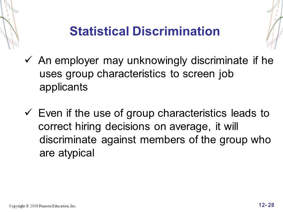 Statistical Discrimination