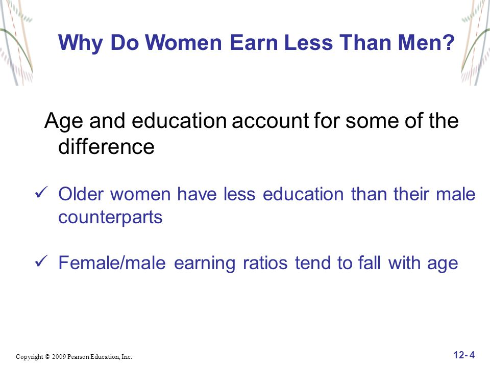 Why Do Women Earn Less Than Men