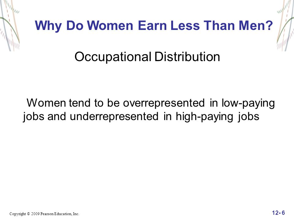 Why Do Women Earn Less Than Men Occupational Distribution
