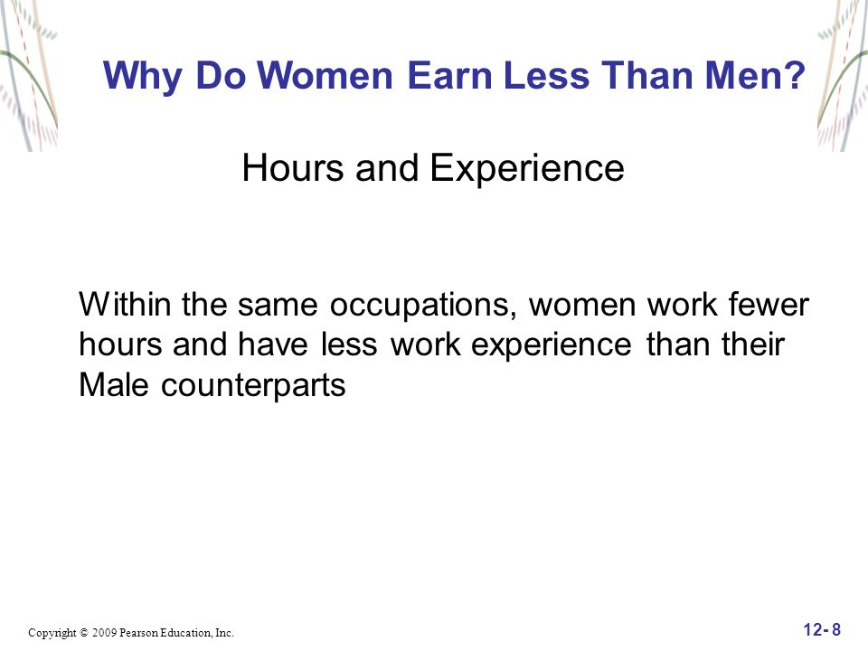 Why Do Women Earn Less Than Men Hours and Experience