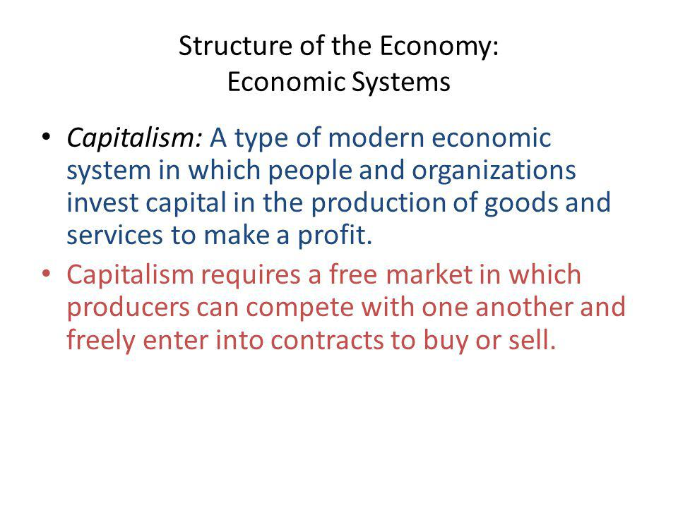Structure of the Economy: Economic Systems