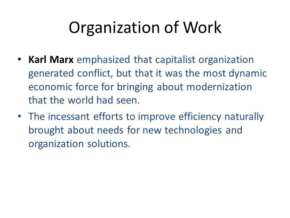 Organization of Work