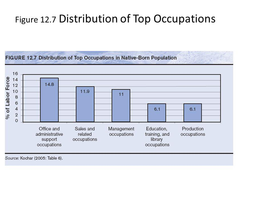 Figure 12.7 Distribution of Top Occupations