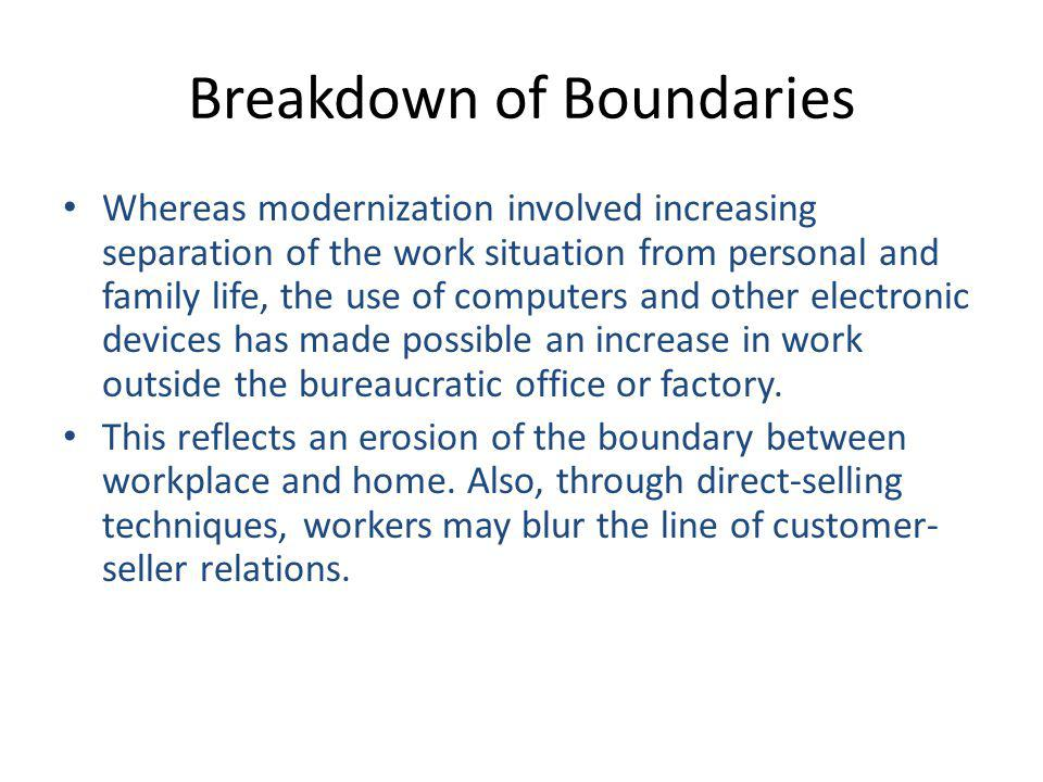 Breakdown of Boundaries