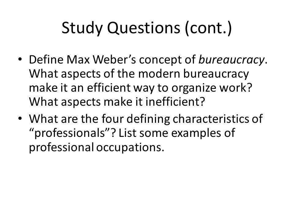 Study Questions (cont.)