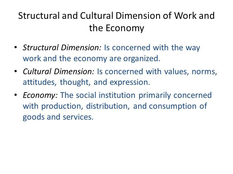Structural and Cultural Dimension of Work and the Economy