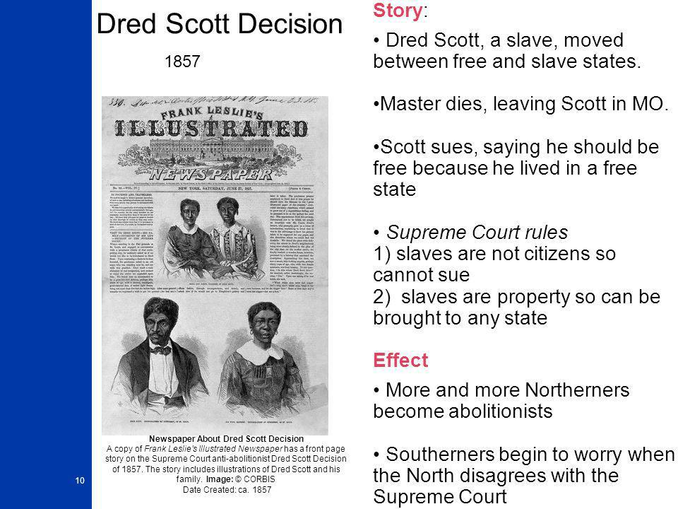 Dred Scott Decision 1857 Story: