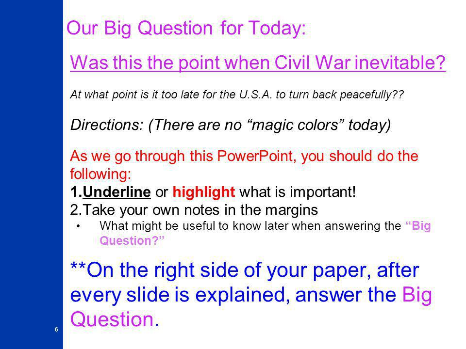 essays on why the civil war was inevitable Essays related to was the civil war inevitable 1 the inevitability of the civil war introduction the american civi war was inevitable.