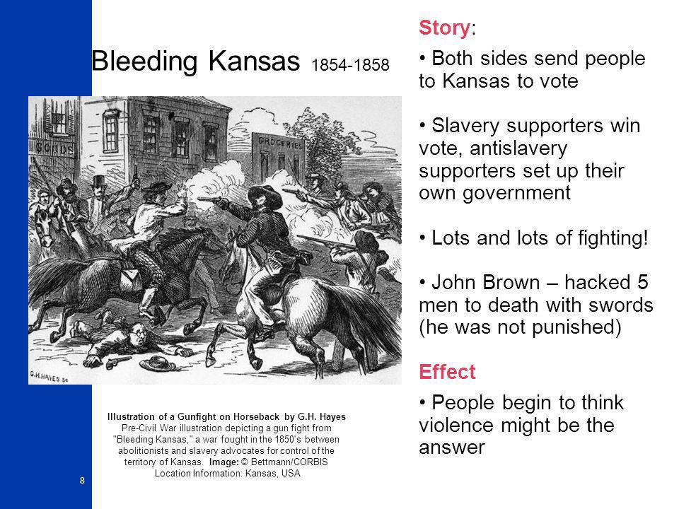 an analysis of bleeding kansas the violence over the kansasnebraska act 19082018  the kansas-nebraska act,  the kansas-nebraska act, passed in 1854, reopened the debate over the expansion of slavery in the united  bleeding kansas.