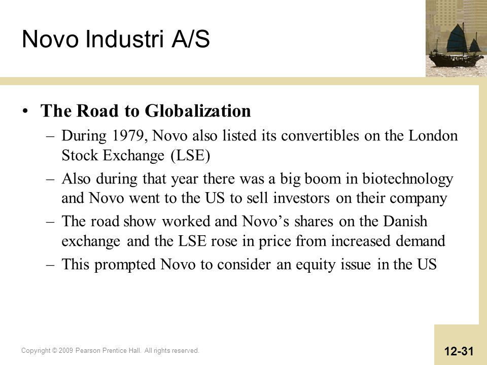 Novo Industri A/S The Road to Globalization