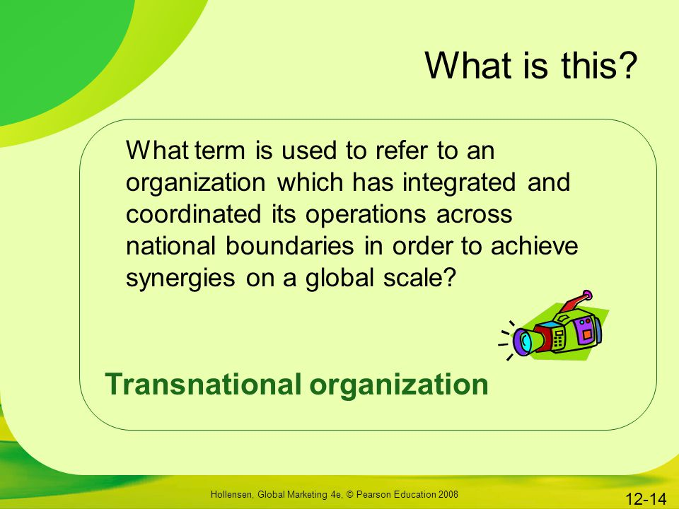 What is this Transnational organization