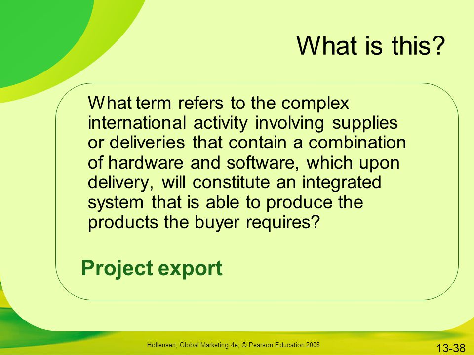 What is this Project export