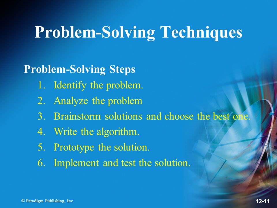 Problem-Solving Techniques
