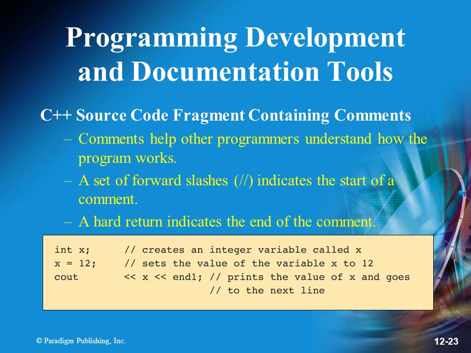 Programming Development and Documentation Tools