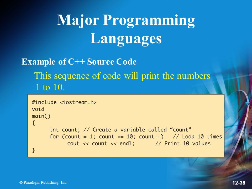 Major Programming Languages