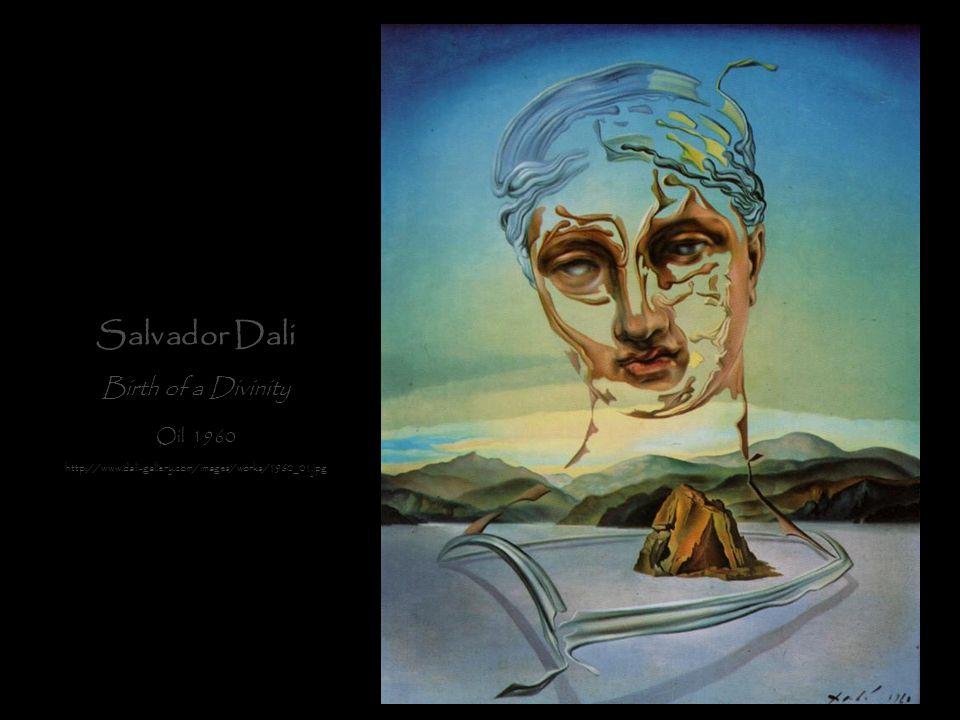 Salvador Dali Birth of a Divinity Oil 1960