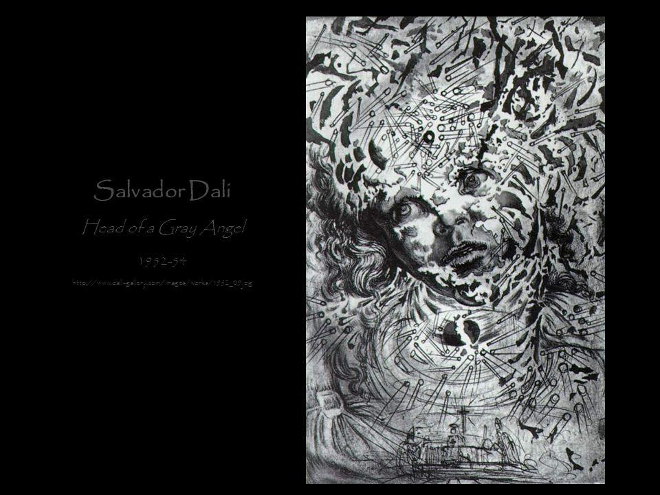 Salvador Dali Head of a Gray Angel 1952-54