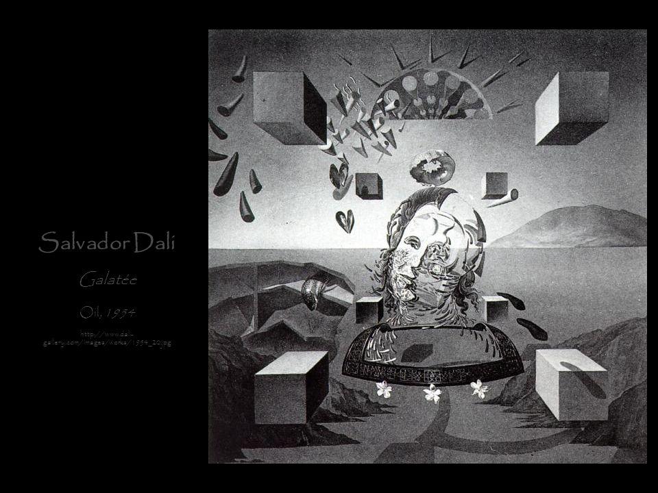 Salvador Dali Galatée Oil, 1954