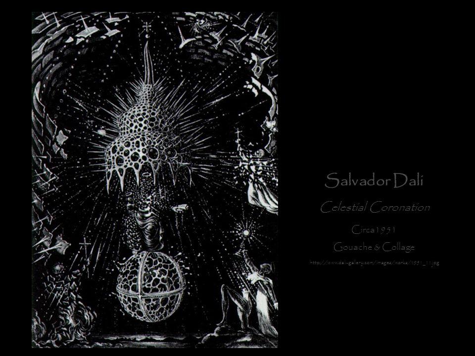 Salvador Dali Celestial Coronation Circa1951 Gouache & Collage