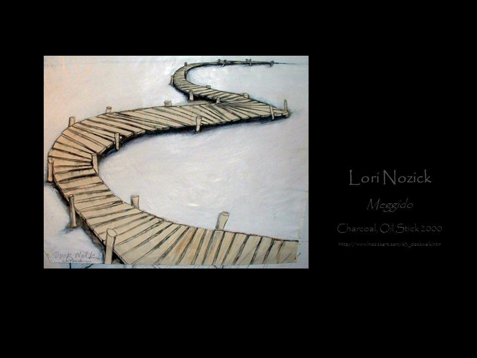 Lori Nozick Meggido Charcoal, Oil Stick 2000