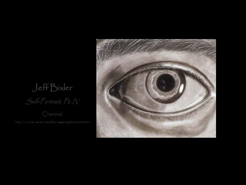 Jeff Bixler Self-Portrait, Pt. IV Charcoal