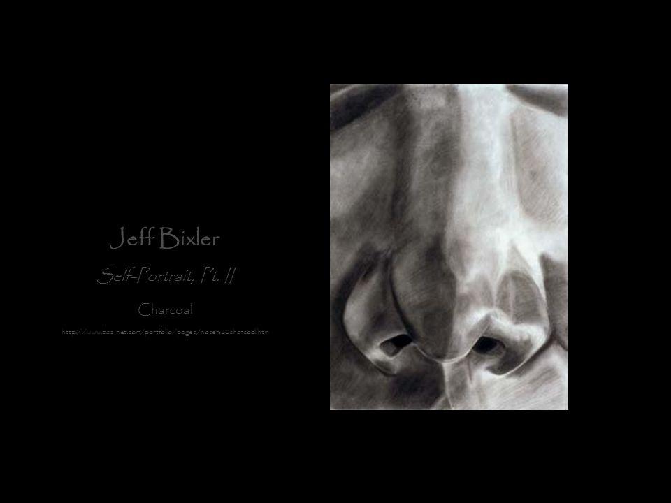 Jeff Bixler Self-Portrait, Pt. II Charcoal