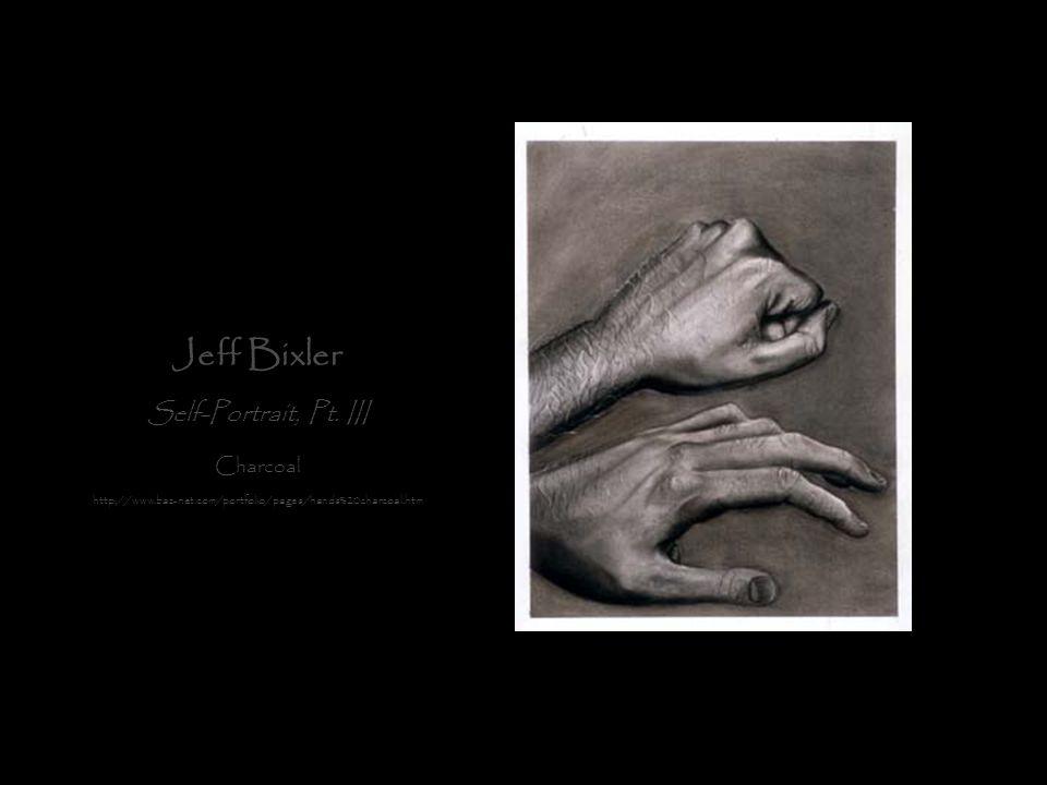 Jeff Bixler Self-Portrait, Pt. III Charcoal