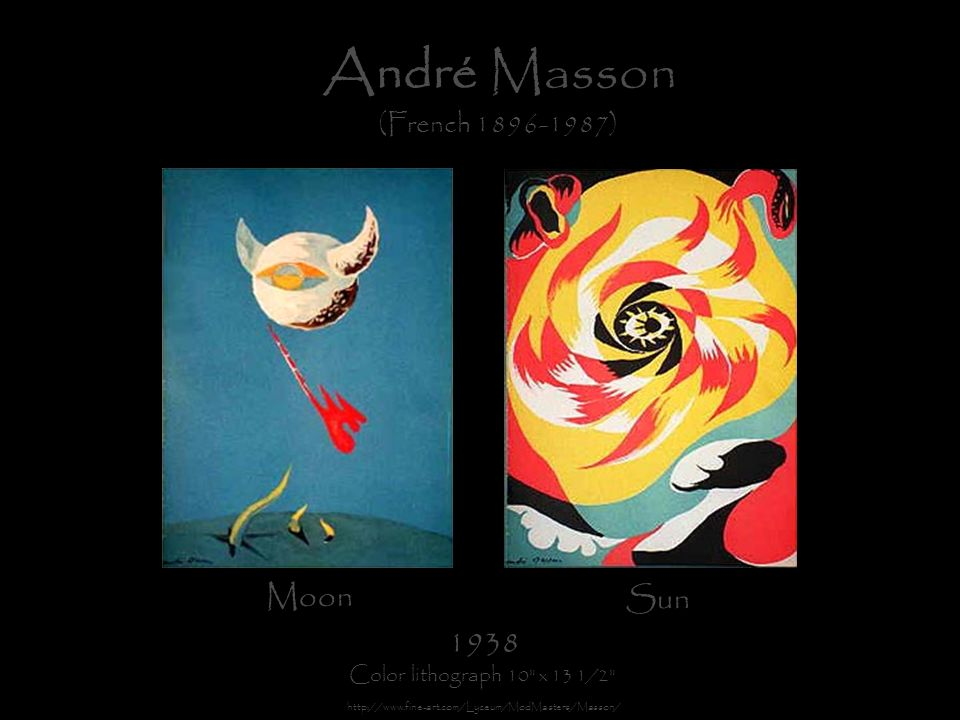 André Masson Moon Sun 1938 (French 1896-1987)
