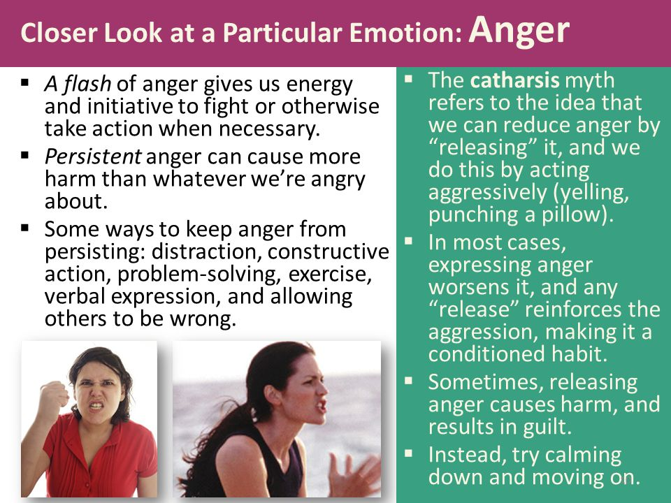 Closer Look at a Particular Emotion: Anger
