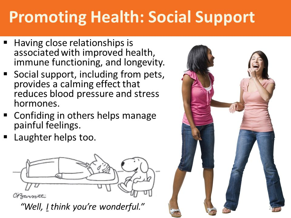 Promoting Health: Social Support
