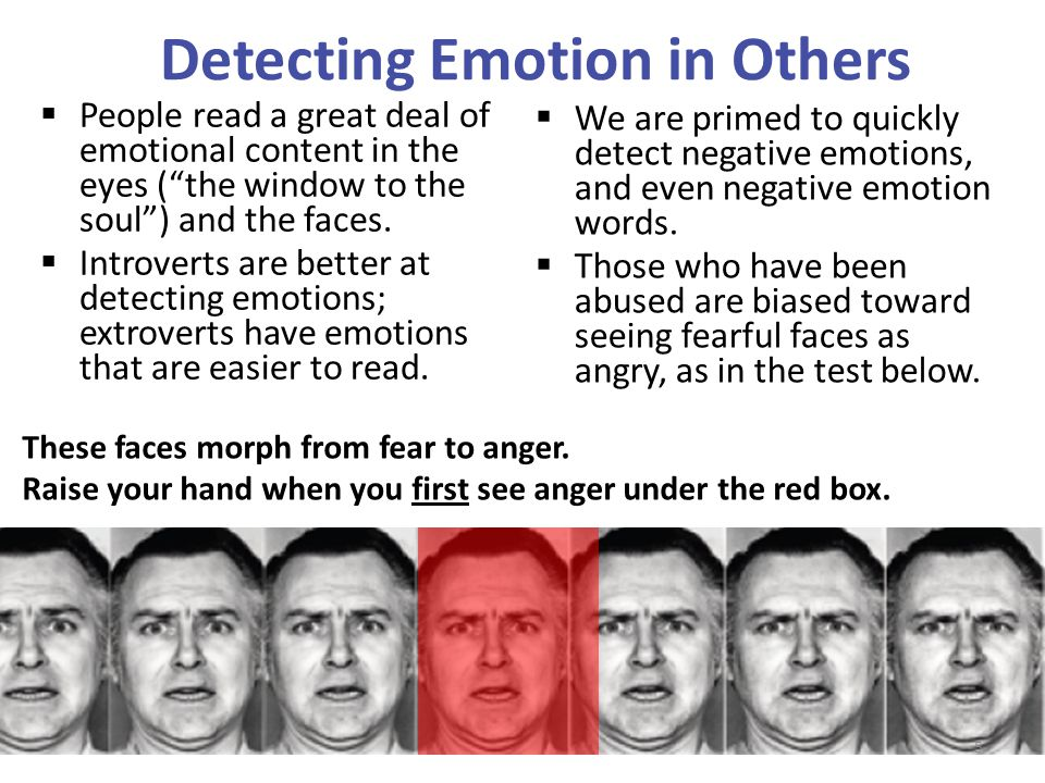 Detecting Emotion in Others