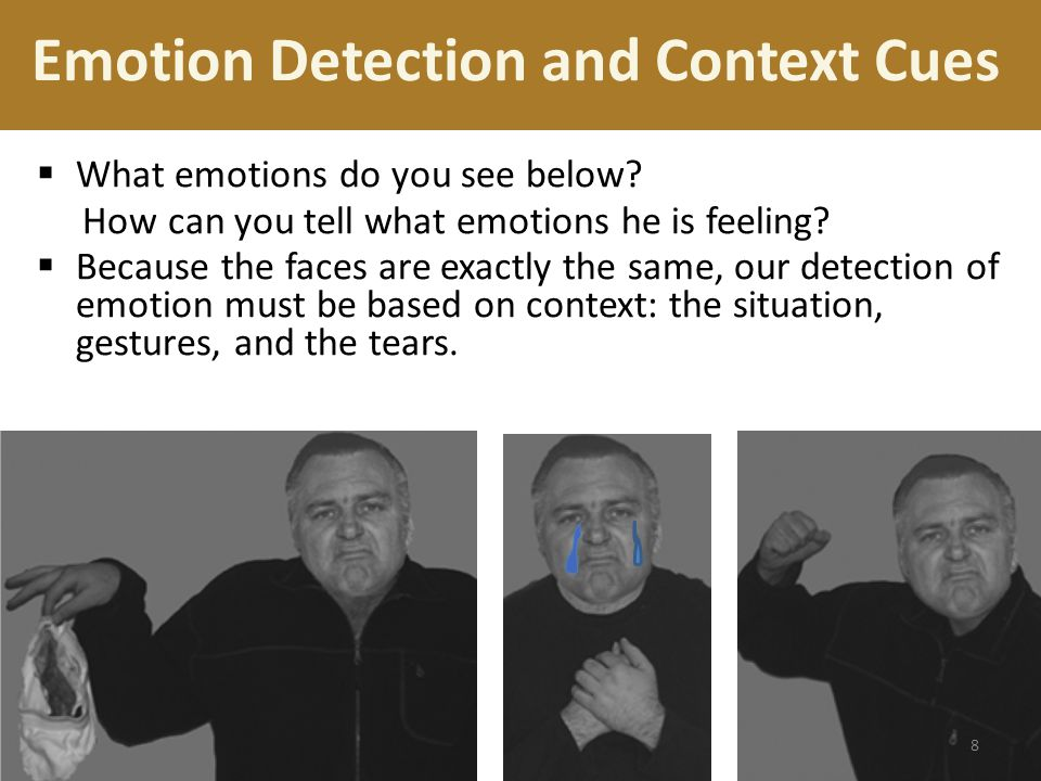 Emotion Detection and Context Cues