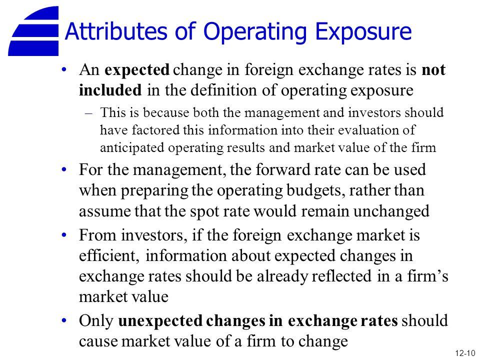Attributes of Operating Exposure
