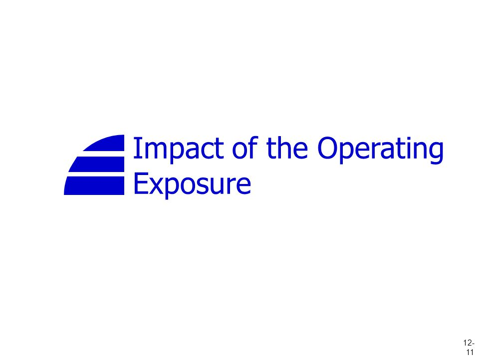 Impact of the Operating Exposure