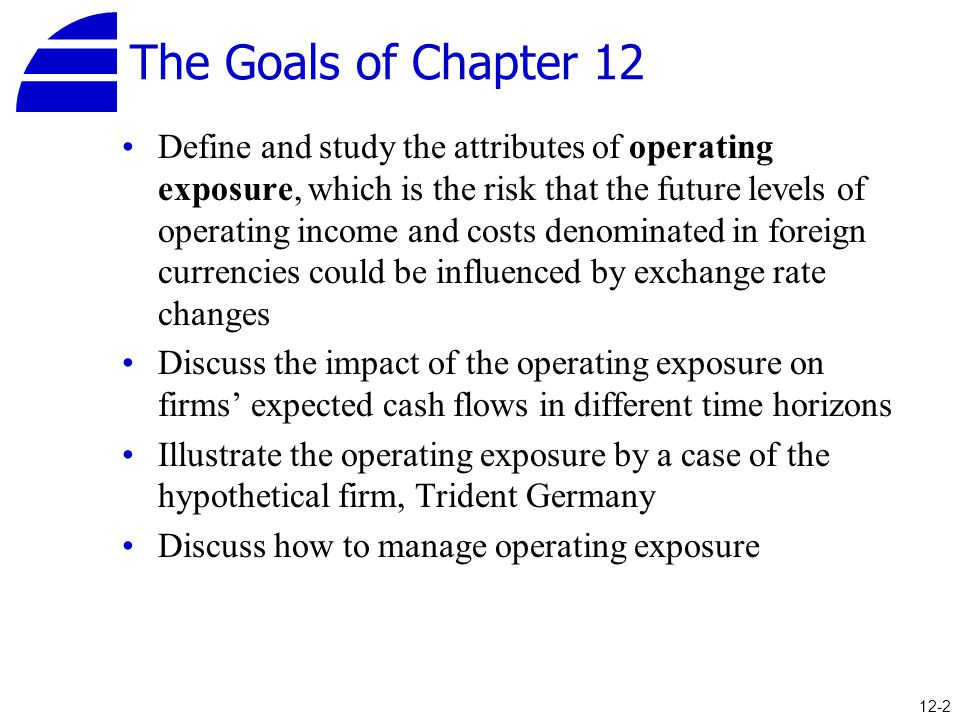 The Goals of Chapter 12