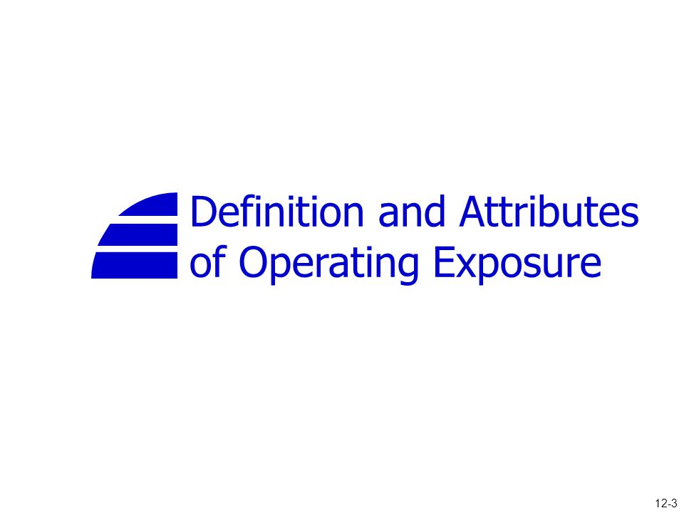 Definition and Attributes of Operating Exposure