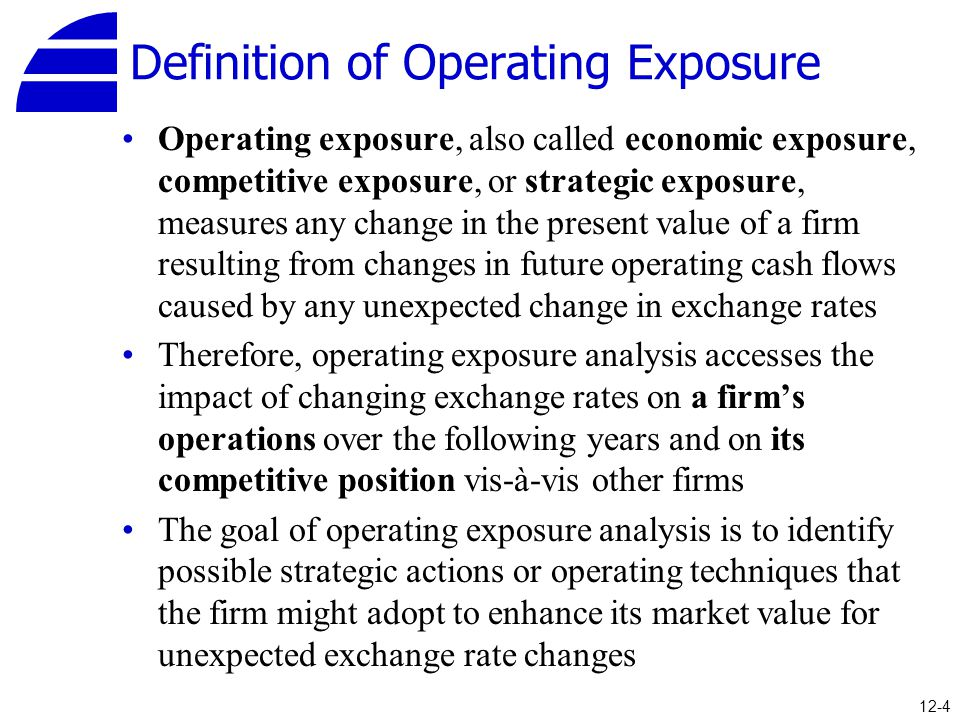 Definition of Operating Exposure