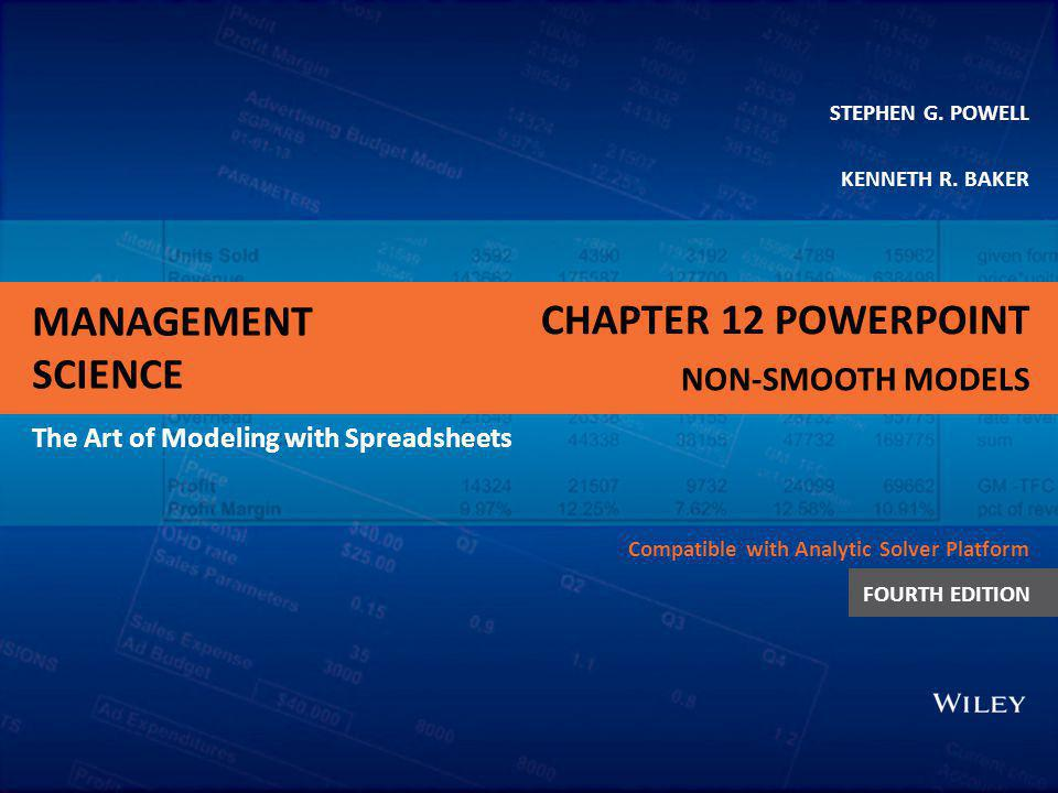 Chapter 12 PowerPoint Non-smooth Models