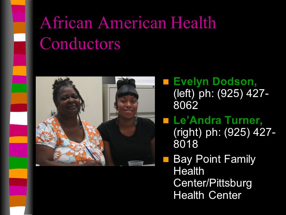 African American Health Conductors