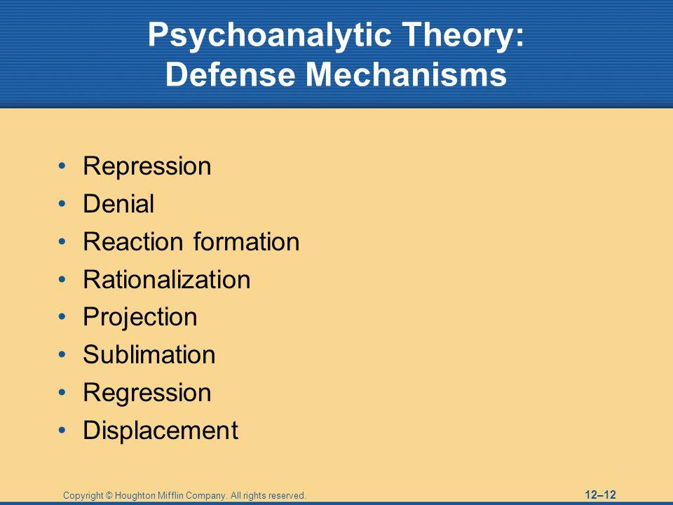 Psychoanalytic Theory: Defense Mechanisms