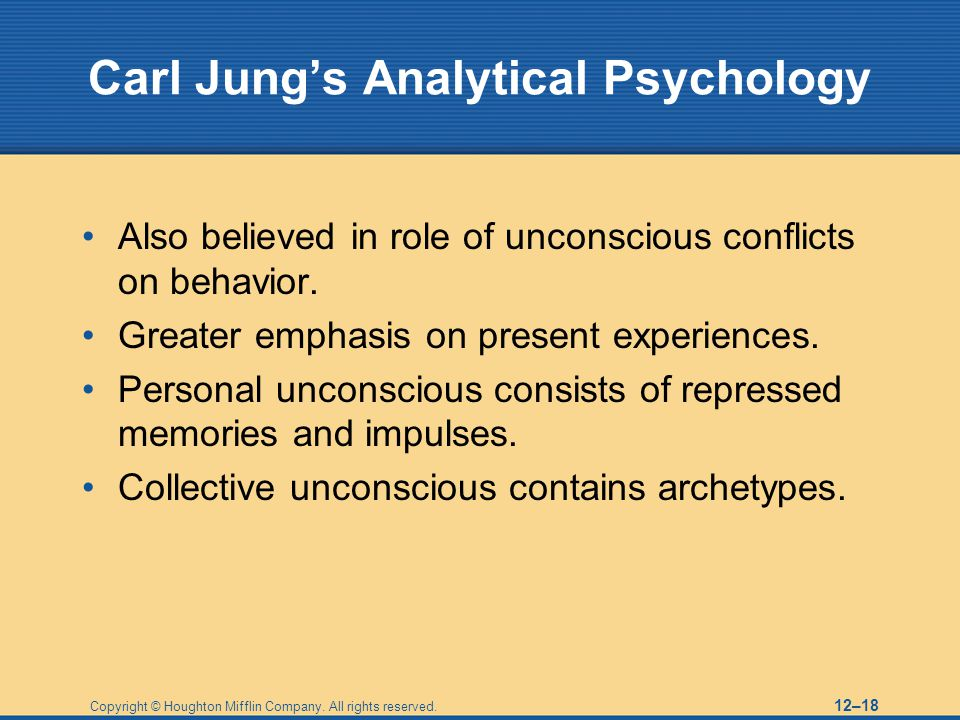 Carl Jung's Analytical Psychology