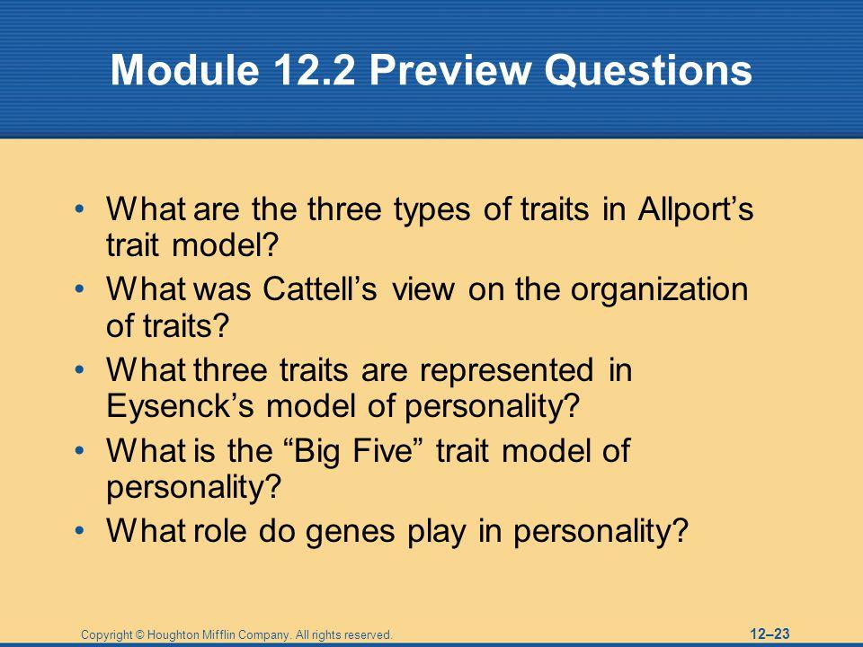 Module 12.2 Preview Questions