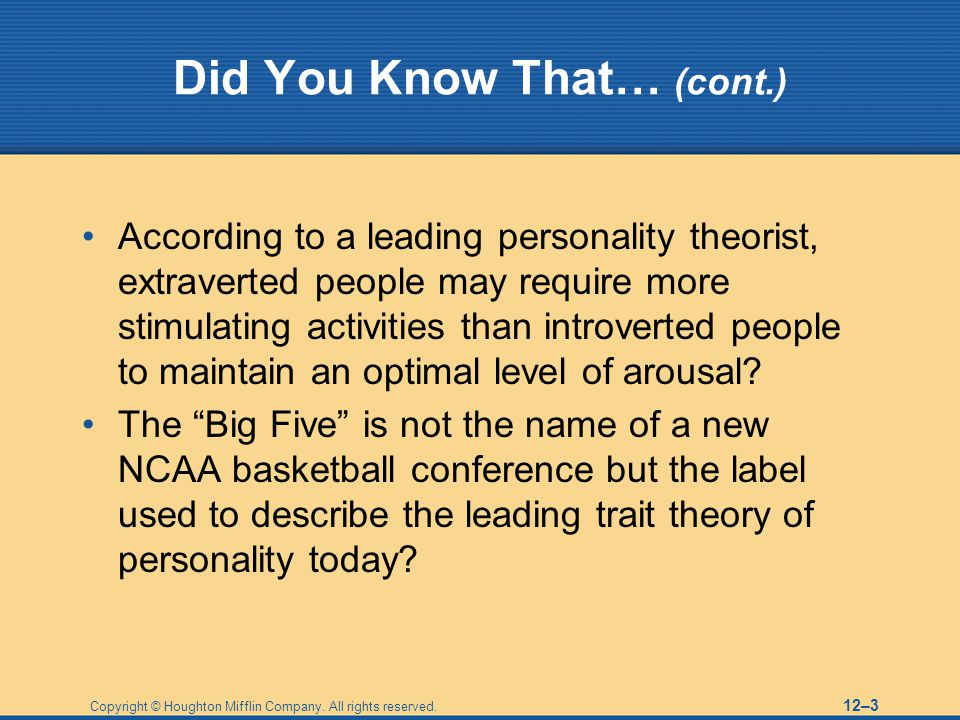 Did You Know That… (cont.)
