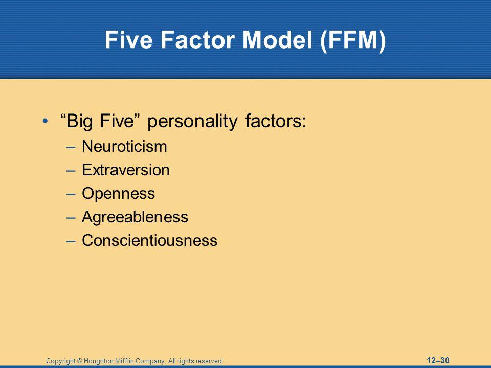 Five Factor Model (FFM)