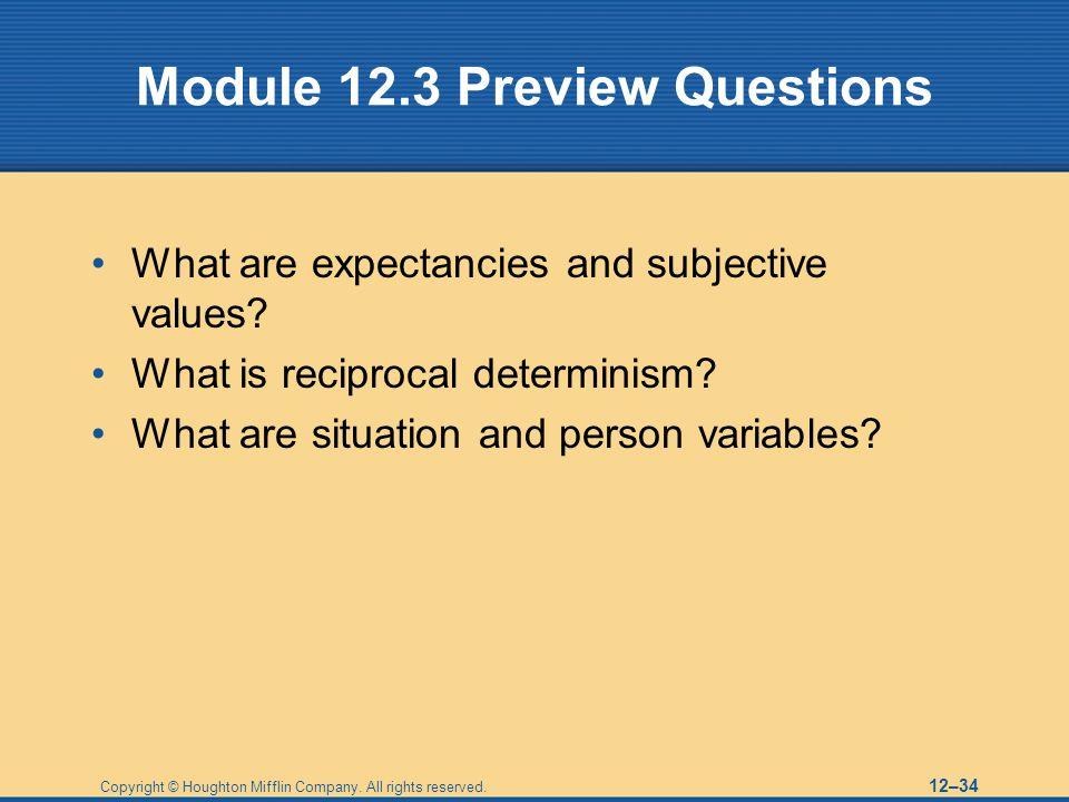 Module 12.3 Preview Questions