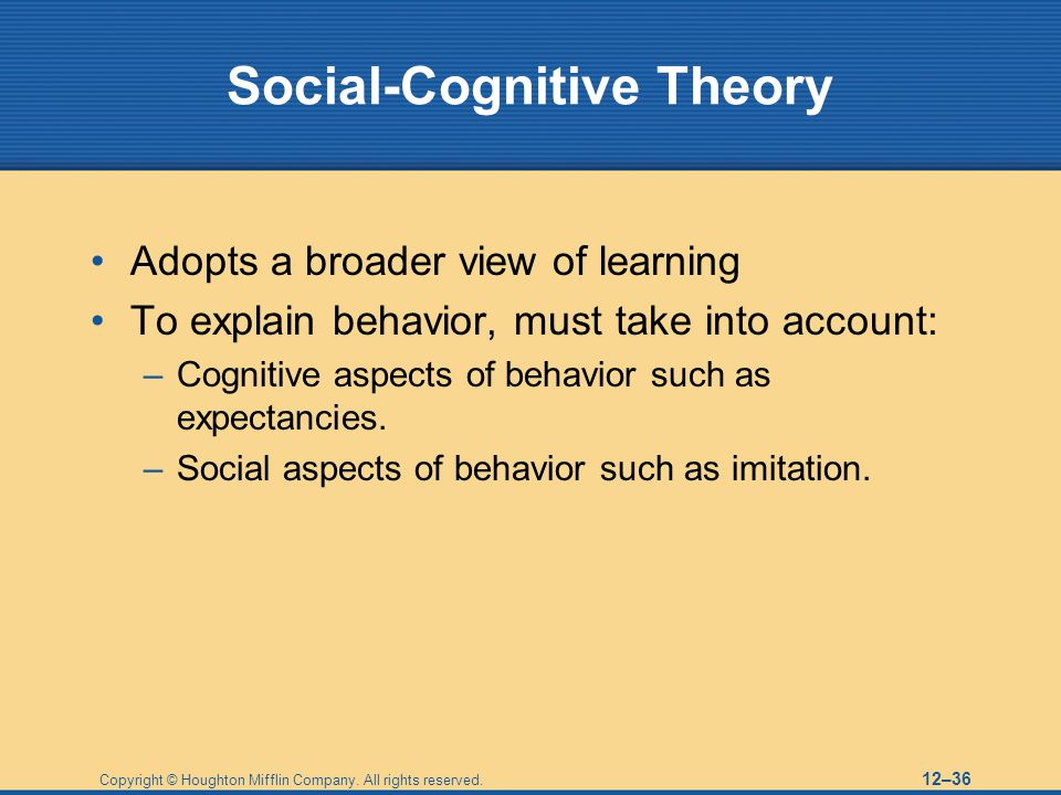 Social-Cognitive Theory