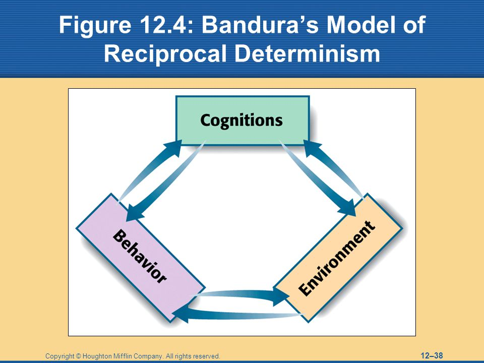 personality psychology and reciprocal determinism Psychology 116 name what is walter mischel's personality coefficient what is albert bandura's concept of reciprocal determinism (365.